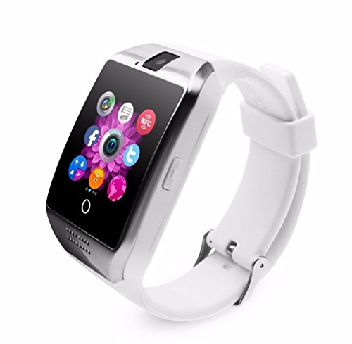Amazon.com: Smart Watch with Camera, Ezone Q18 Bluetooth Smartwatch with Sim Card Slot Fitness Activity Tracker Sport Watch for Android Smartphones ...