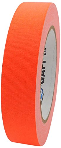 Pro-Gaff RS127OR24X25 24 mm x 25 yd Fluorescent Matt Cloth Tape Pro Tapes & Specialties Inc USA