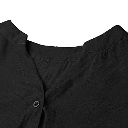 Longue V en V à Tops Haut Shirt à Sweat Femme Beikoard Chemisier Femme Shirt Femme Longues Col Manches Femme Noir Hauts Blouse Manche Encolure Tee Tee WnEBZOpIa