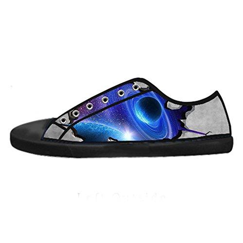 Custom Universo piatto Mens Canvas shoes I lacci delle scarpe in Alto sopra le scarpe da ginnastica di scarpe scarpe di Tela.