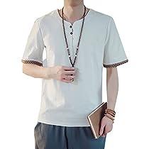 (オリログ)ALLYLOG 麻 Tシャツ メンズ Vネック 半袖 無地 おしゃれ...