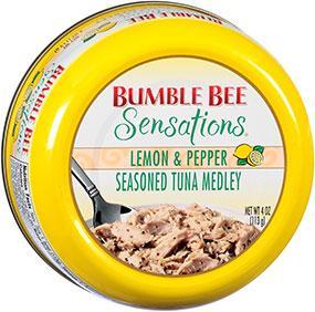 BUMBLE BEE Sensations Seasoned Tuna Medley 4 oz Bowl - Lemon & Pepper