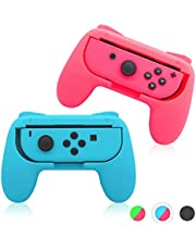 Astarry Grips for Nintendo Switch Joy-Con Controller - 2-Pack [Ergonomic Design] Blue & Red