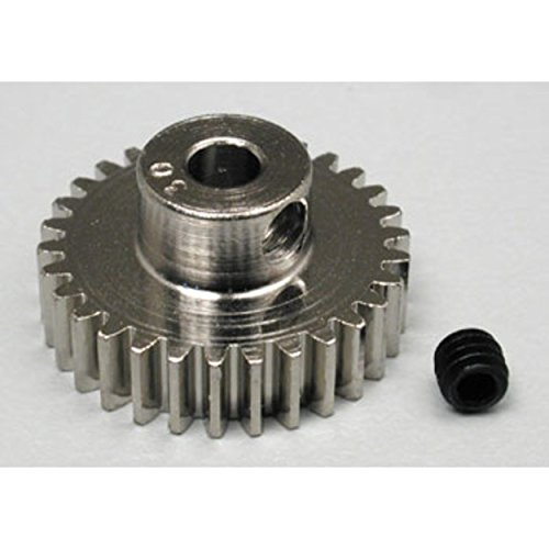 Robinson Racing 1030 Hard Nickel Plated Steel Motor Pinion Gear, 1/8