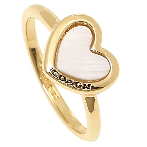 Coach Heart Ring Gold/White - F67110 (6) ()