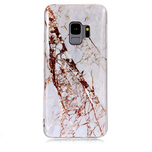 Samsung Galaxy s9 case, Glossy Marble Pattern Slim Hard Soft Silicone Back Case Cover Fit for Samsung Galaxy s9 (17)