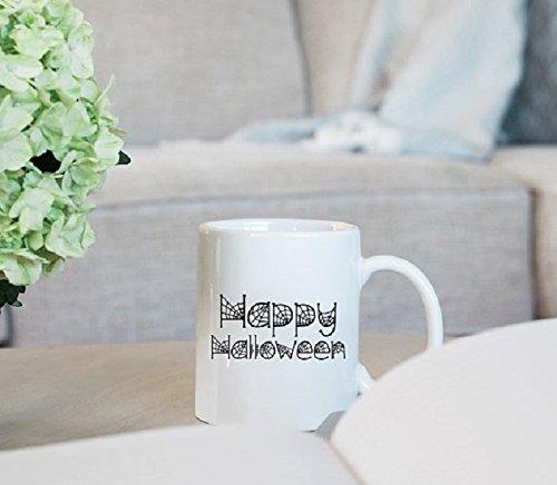 Happy Halloween Mug, gif, coffee cup, 11oz, (Mad Hatter Gif)