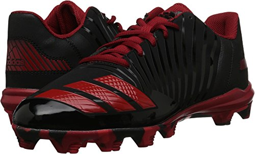 Red Kids Cleats (adidas Kid's Icon MD Baseball Shoe, Core Black, Red, Power Red, 12K M US Little Kid)