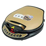 Liven LR-A434 Electric Skillet, One Button to Detach and Wash, Golden Shell For Sale