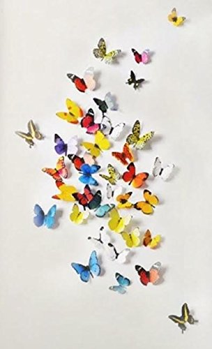 3D Colorful Butterfly Wall Stickers DIY Art Decor Crafts for Home and Room Decoration, 19 - Menu Nyc Frame