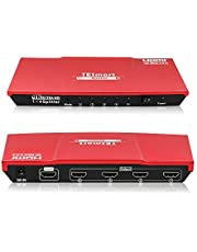 TESmart HDMI Splitter 1x4 1 in 4 Out HDMI Splitters 4K@60HZ 4:4:4 Supports HDCP 2.2 HDMI Splitter 4K Supports Output 1080P@60Hz and 3840x2160@60Hz 4:4:4 for Different Resolution Monitors