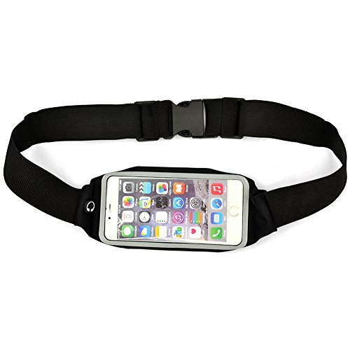 NYZ Best Double-deck Running Belt for Iphone 6 Plus +Free 2 in 1 Stylus (Black)