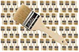 Brushes and Painting Tools - 96 Pk - 2.5 inch Chip Paint Brushes for Paint, Stains,Varnishes,Glues,Gesso - Amateur and Professional Painters