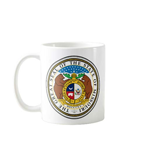 11OZ PREMIUM PORTABLE COFFEE MUGS FUNNY - THE GREAT SEAL OF THE STATE OF MISSOURI- GIFT IDEAL FOR MEN, WOMEN, MOM, DAD, TEACHER, BROTHER OR SISTER #666