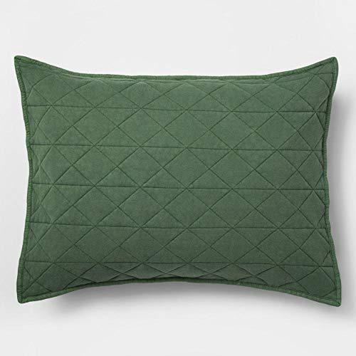 Jersey Pillow Sham - Green Vintage Wash Jersey Pillow Sham (Standard)