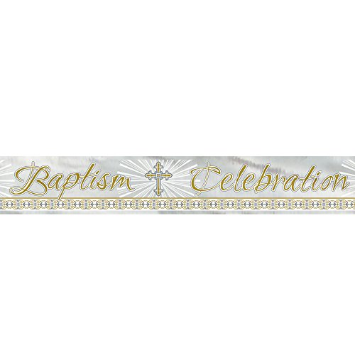 12ft Foil Gold & Silver Radiant Cross Baptism (Silver Foil Cross)