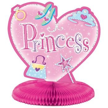 Amscan Sparkling Princess Birthday Party Table Decorating Kit (23 Pack), 12.5