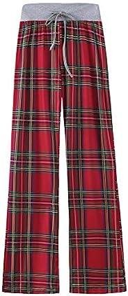 amropi Women's Pajama Lounge Pants Floral Print Casual Drawstring Palazzo Wide Leg P