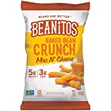 Beanitos Baked Crunch Mac n' Cheese, The Healthy, High Protein, Gluten free, and Low Carb Tortilla Chip Snack, 4.5 Ounce A Lean Bean Protein Machine for Superfood Snacking At Its Best, Pack of 6