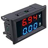 LED Voltmeter Ammeter, High Precision 2 in 1 Multimeter 0-100V/50A Voltage Current Measurement Meter Volts Amp Sensor