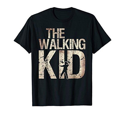 Walking Kid Shirt Zombie Child Lad Boy or Daughter Tee