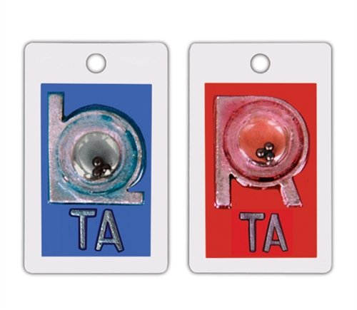 X-Ray Markers, Identifier Style - Positioning Beads, 2-3 Initials, SET, L&R 7/8'', Vertical