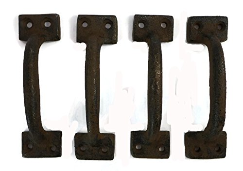 Cast Iron Gate Pull Handle Set of 4