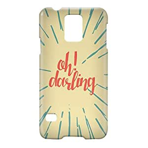 Loud Universe Samsung Galaxy S5 Oh Darling Print 3D Wrap Around Case - Multi Color