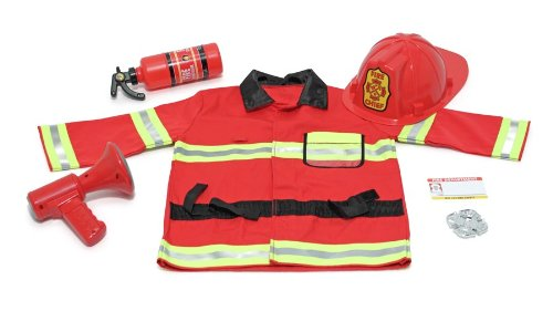 Melissa & Doug Fire Chief Role Play Costume Set