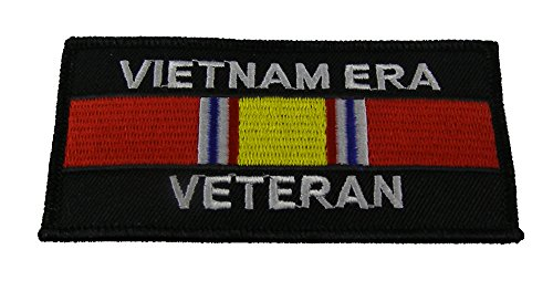 VIETNAM ERA VET PATCH with National Defense Ribbon - Color - Veteran Owned Business.