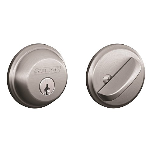 Schlage B60N626 Deadbolt, Keyed 1 Side, Satin Chrome ()