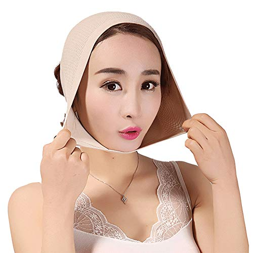 MUYIER Face Slimming Belt, Thin Face Double Chin Reducer Remover Strap V-Line Face Shapes Neck Compression Cheek Lift Up Anti Wrinkle Lifting Bandage