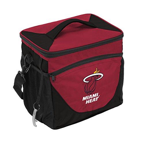 Logo Brands NBA Miami Heat Unisex 24 Can Cooler, Garnet, N/A by Logo Brands