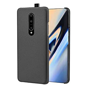 MoKo Compatible with Oneplus 7 Pro Case, Lightweight Slim Shockproof Protective Cover Rugged PC Material Phone Case with Sandstone Craft Surface Fit with Oneplus 7 Pro - Black