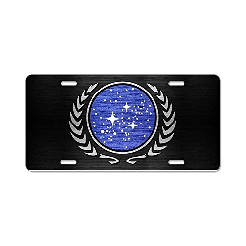 CafePress - STARTREK UFP METAL 1 - Aluminum License Plate, Front License Plate, Vanity (Buy Starfleet Uniform)