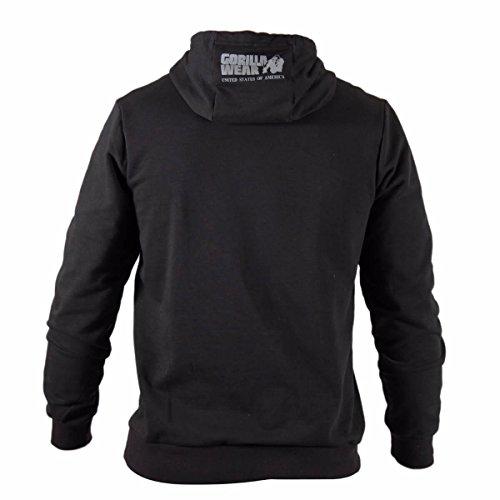 Gorilla Wear Ohio Hoodie - Black schwarz - Bodybuilding und Fitness Hoodie für Damen und Herren