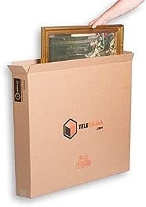TeleCajas® | (10x) Cajas para Cuadros, Espejos, Televisor | 81x13x69 cms | Solapa Doble y Canal Doble Resistente: Amazon.es: Hogar