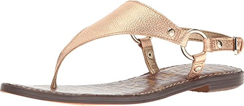 Metallic Pink Greta Sam Opal Platinum Women's Leather Fashion Edelman Tumbled Sandals YrYqzw6Ex