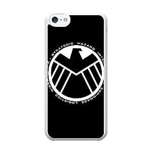 The Avengers Logo V8W6UR0P Caso funda iPhone 5c Caso funda del teléfono celular blanco