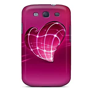 Protector Cell-phone Hard Covers For Samsung Galaxy S3 With Support Your Personal Customized Lifelike Pink Heart Image JohnPrimeauMaurice