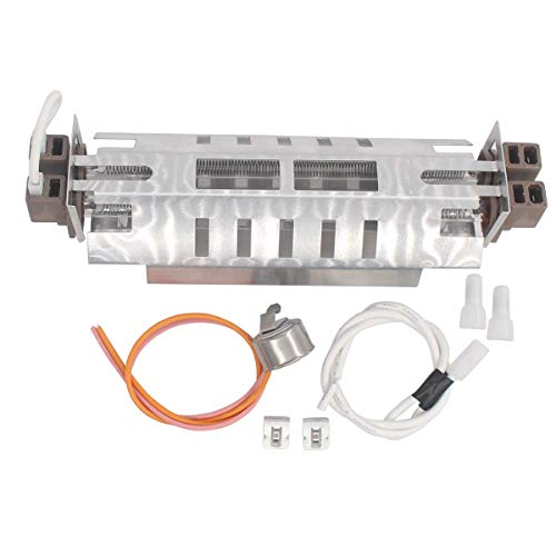 ApplianPar WR51X10101 Refrigerator Double Tube Defrost Heater & WR50X10068 Thermostat for GE ()