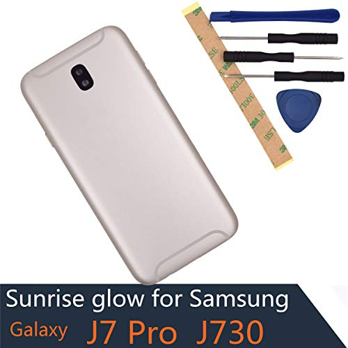 J730F Battery Door Compatible with Samsung Galaxy J7 Pro Gold