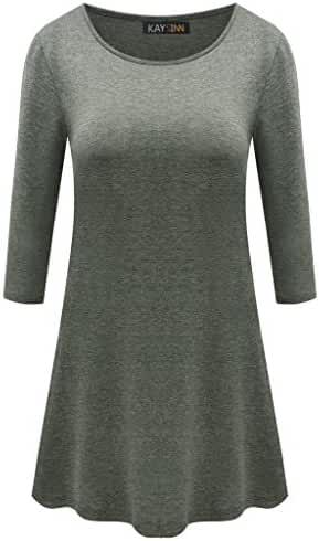 3/4 Sleeves Tunic Top for Women