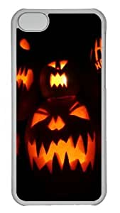 Halloween Pumpkins Custom iPhone 5C Case Cover Polycarbonate Transparent