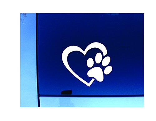 Dixies Decals Heart with Dog Paw 4