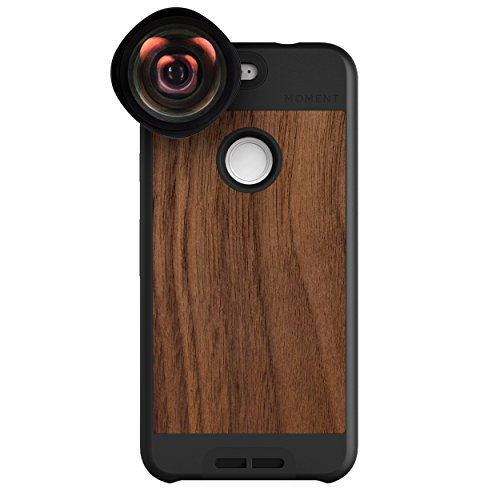 Google Pixel Case with Wide Lens Kit || Moment Walnut Wood Photo Case plus Wide Lens || Best google wide attachment lens with thin protective case. by Moment (Image #9)