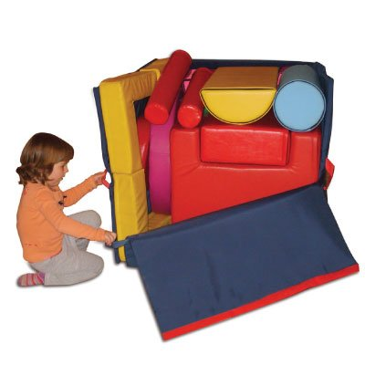 The GYMBOX 39-Inch Cube with Padded Mats, Seesaws, Stairs & More – For Motor Skills, Coordination, Balance – Ages 3-8 by Fun and Function (Image #3)