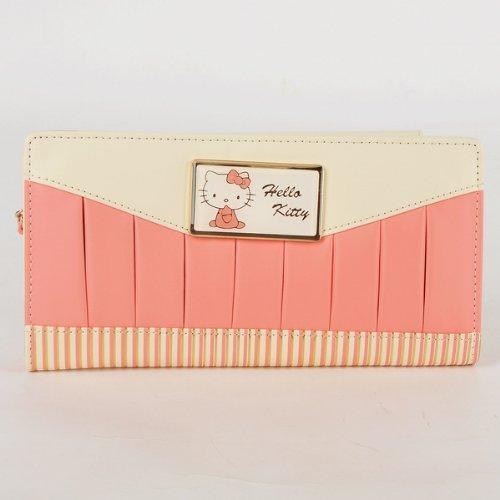 Hello Kitty Stripes Tri-fold Long Clutch Wallet