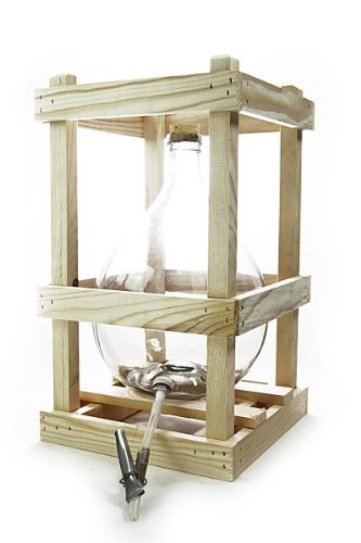 Demijohn / glass carboy with wooden crate, Cork and drain tube, 10 liters andere Hersteller