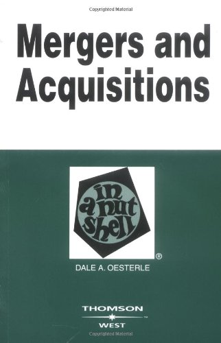 Pdf Law Mergers and Acquisitions in a Nutshell (Nutshells)